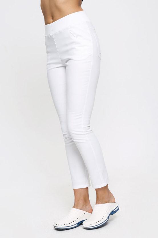 spodnie białe medyczne